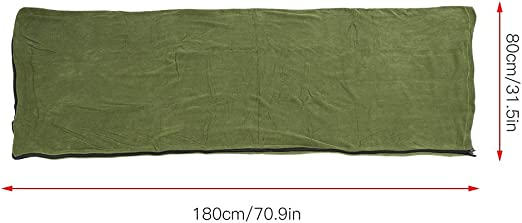 Color : Green Warm and Cozy Microfiber Fleece Anti-Pilling Zippered Sleeping Bag Liner for Adults and Kids Outdoor Camping Hiking Traveling MAGT Polar Fleece Sleeping Bag Military Green