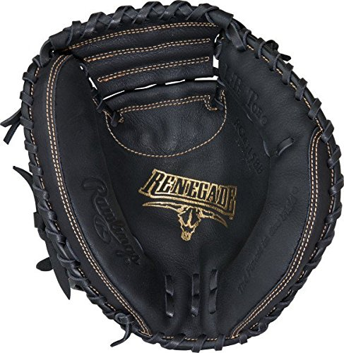 Rawlings Renegade Series Baseball Youth Catcher's Mitt, Regular, 1-Piece Solid Web, 31-1/2 Inch 1 Piece Hood