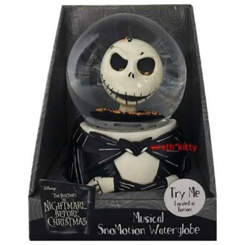 the nightmare before christmas jack skellington snowmotion musical water globe snow globe - Nightmare Before Christmas Snow Globes