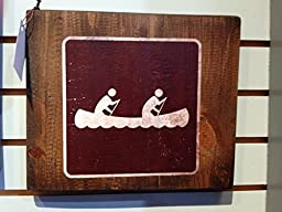 Canoeing Sign on Reclaimed Wood -