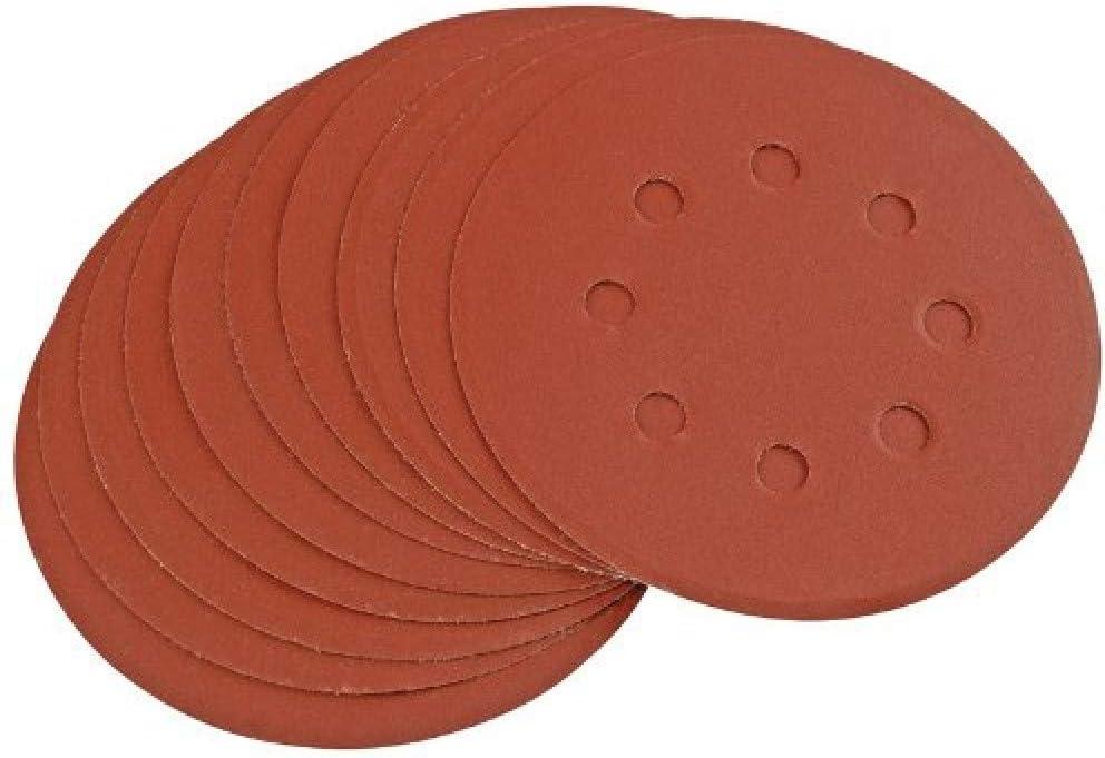 """5 /""""Disques de ponçage Grit Orbital Sander Pads Velc 50pcs 125mm"""
