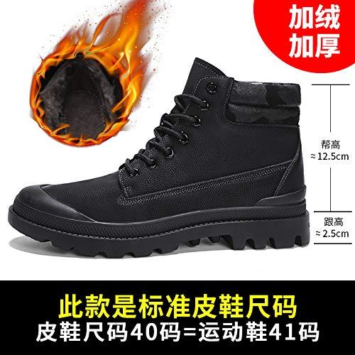 LOVDRAM Stiefel Männer Martin Stiefel Männer Pu Baumwolle Kurze Stiefel Werkzeug Herren Schuhe Baumwolle Schuhe Herren Stiefel Wild Military Stiefel High Winter Zu Helfen