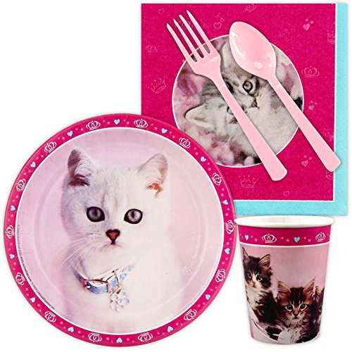 (BirthdayExpress Rachael Hale Glamour Cats Party Supplies - Snack Party)