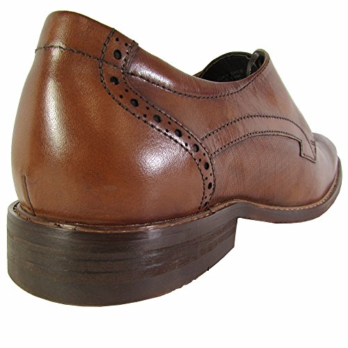 Kenneth Cole New York Mens Lucky Dice Lace Up Oxford Shoes Cognac