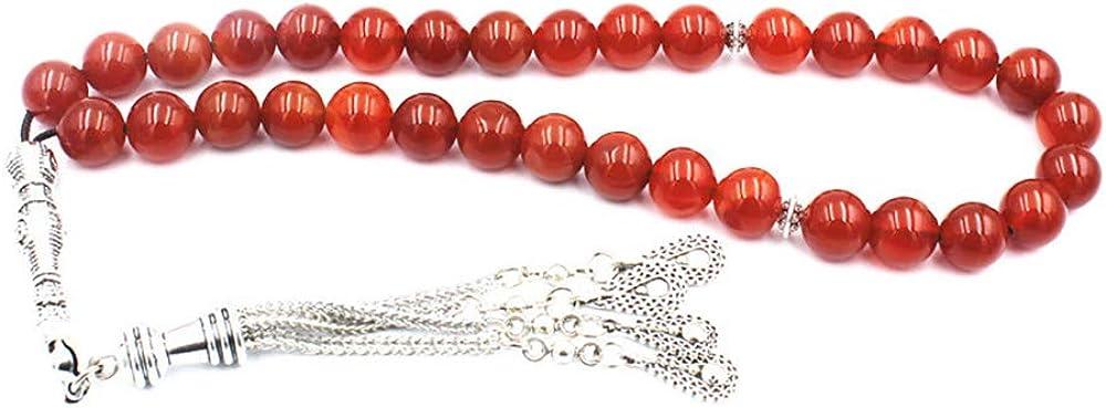 Hongma 33 Perlen Gebetskette 10CM Farbig Rot Schwarz zur Anbeten f/ür Moslem Islam MEHRWEG
