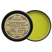 Peppermint Headache Balm All Natural Headache & Migraine Relief, Sinus Headache, Stress Relief, Aromatherapy, Non GMO, Cruelty Free