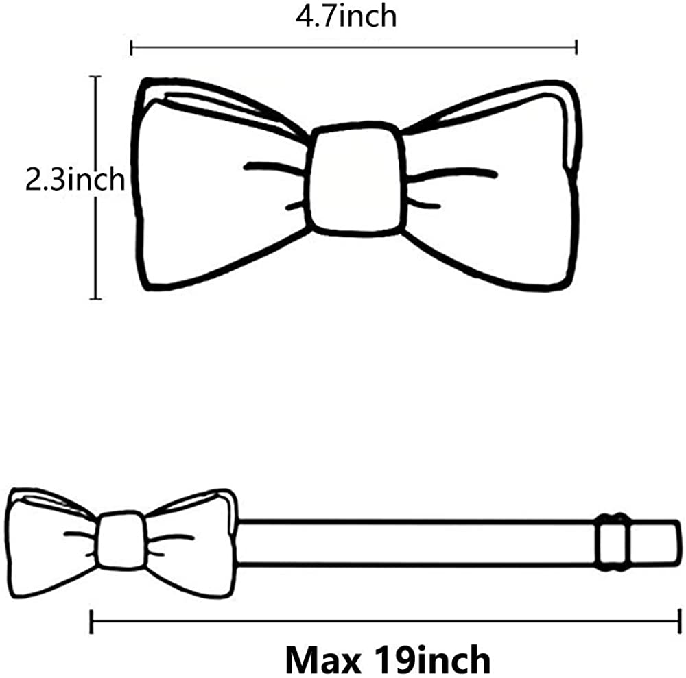 Mens Classic Pre-Tied Bow Tie Wedding Formal Adjustable Length Bowtie