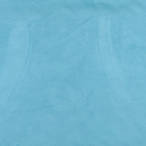 C089 Light Blue Solid Microsuede Microfiber Contemporary Upholstery Grade Fabric by The Yard ()