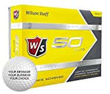 Wilson Staff 50 Elite Personalized Golf Balls - Add Your Own Text (12 Dozen) - Yellow