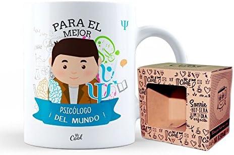 Mr Cool Taza en Caja Regalo en Mensaje para el Mejor Psicólogo ¡del Mundo, Cerámica, Multicolor, 15x10x5 cm: Amazon.es: Hogar