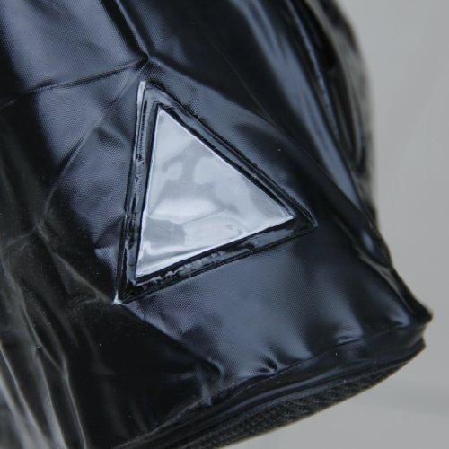 SODIAL (R) Impermeable y antideslizante Cubierta del zapato botas de lluvia reflectantes para montan motocicleta y bicicleta Negro XXL