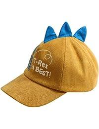 e10c4ae9ed6 Autumn Boys Girls Cartoon Dinosaur Printed Baseball Cap Children Tennis  Casual Hip Hop Sun Corduroy Caps
