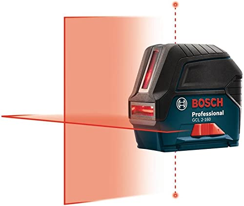 Bosch 65 ft. Self-Leveling Cross-Line Laser Level with Plumb Points-GCL 2-160 S