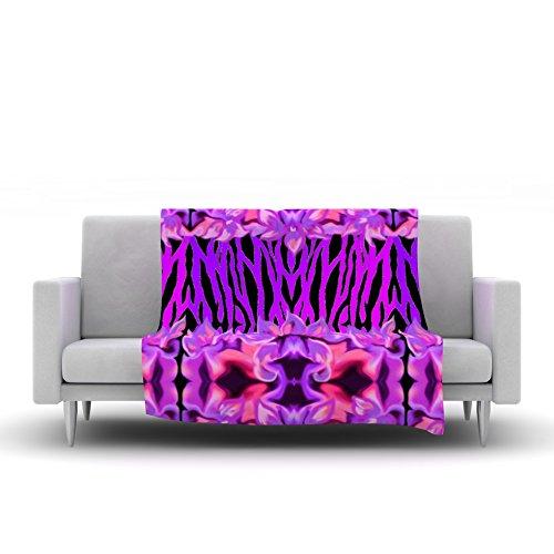 80 by 60 Kess InHouse Nina May Cezarra Pink Purple Fleece Throw Blanket