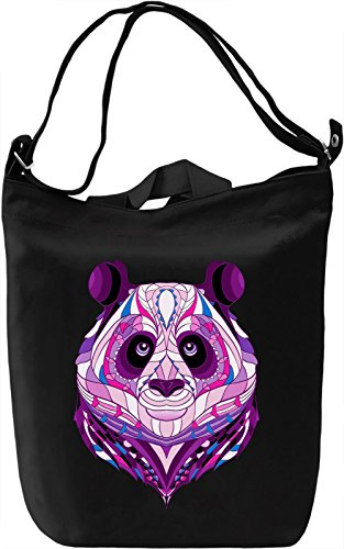 Purple Panda Borsa Giornaliera Canvas Canvas Day Bag| 100% Premium Cotton Canvas| DTG Printing|