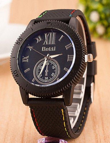 relojes roma moda de los hombres relojes báscula de cinta reloj deportivo al aire libre de los hombres , yellow: Amazon.es: Relojes