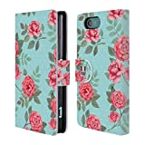 Head Case Designs Flowers In Blue Nostalgic Rose Patterns Leather Book Wallet Case Cover For Sony Xperia Z5 Compact