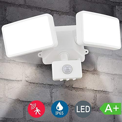 DLLT Led Security Lights Motion Outdoor, 20W 6000k Motion Sensor Flood Light, IP65 Waterproof Plug in Motion Sensor…
