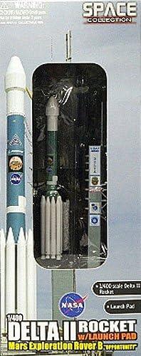 56339 Dragon Diecast Model Delta II Rocket W//Launch Pad Mars Exploration 1:400