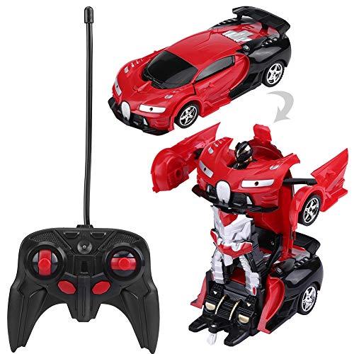 RC Transformer Robot Car, Coche Teledirigido, 1/18 Modo de Robot deforma 2 en 1 Modelos RC Coche de deformación,vehículo…