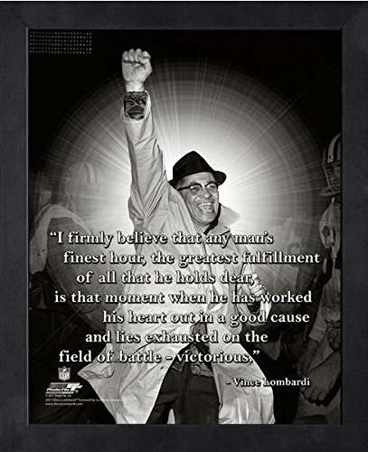 Vince Lombardi Green Bay Packers ProQuotes Photo (Size: 9'' x 11'') Framed by Photo File