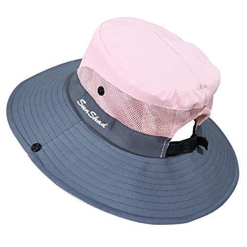 7b1dd209911e5 Muryobao Women s Sun Hat Outdoor UV Protection Foldable Mesh Bucket Hat  Wide Brim Summer Beach Fishing