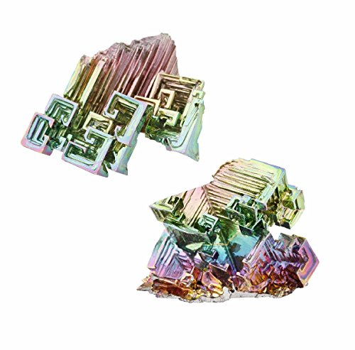- SUNYIK Rainbow Aura Bismuth Crystal Quartz Cluster,Irregular Specimen(0.01-0.04lbs/8-22gram,Pack of 2