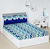 Solimo Abstract Waves 144 TC 100% Cotton Double Bedsheet with 2 Pillow Covers, Green