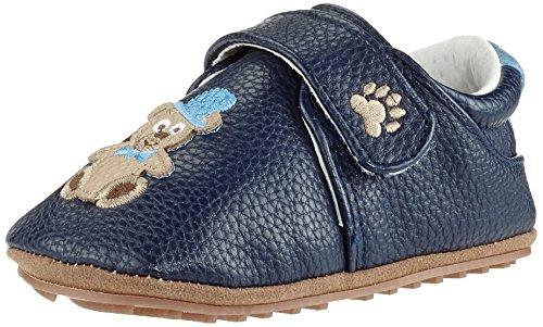 Rose & Chocolat Chaussures Bébé Chaplin Bear Bleu