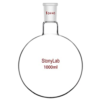 Borosilicate Glass Heavy Wall Flask with 24//40 Standard Taper Outer Joint StonyLab Glass 24//40 Erlenmeyer Flask 1L