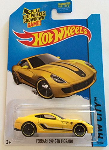 Hot Wheels 2015 HW City Ferrari 599 GTB Fiorano 21/250, Yellow