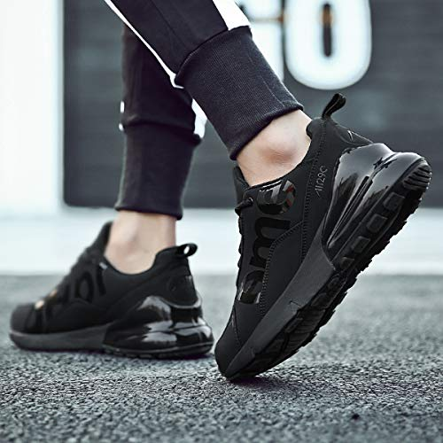 Walking 5 Lauwodun Sport Casual Shoes Men's Running Shoes Black Breathable Athletic Lightweight Sneaker FYx7ZqYr