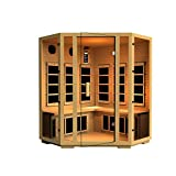 JNH Lifestyles Joyous 4 Person Corner Far Infrared Sauna 8 Carbon Fiber Heaters 5 Year Warranty