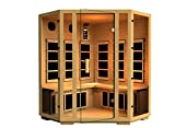 JNH Lifestyles Joyous Corner Far Infrared Sauna 8 Carbon Fiber Heaters 5 Year Warranty