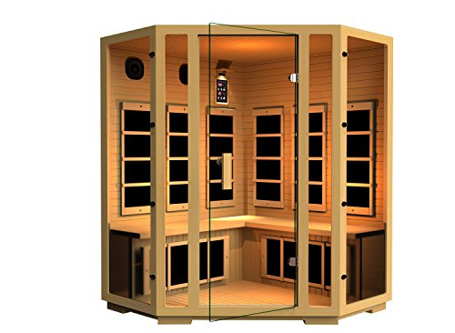 JNH Lifestyles Joyous Corner Far Infrared Sauna 8 Carbon Fiber Heaters 5 Year Warranty by JNH Lifestyles