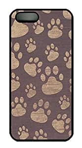 iPhone 5 5S Case Patterns Paws PC Custom iPhone 5 5S Case Cover Black