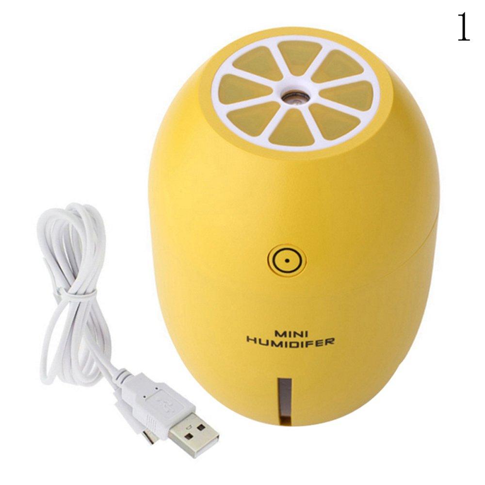 Binglinghua Ultrasonic Mini Lemon Home Aroma LED Humidifier Air Diffuser Purifier Atomizer (yellow) by Binglinghua®