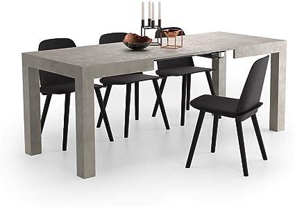 Oferta amazon: Mobili Fiver, Mesa de Cocina Extensible, Modelo First, Color Cemento, 120 x 80 x 76 cm, Made in Italy