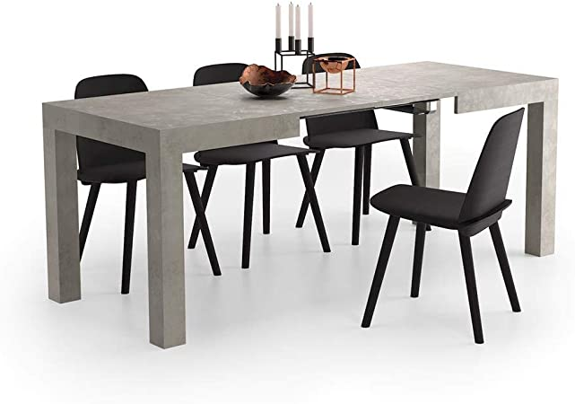 Mobili Fiver Table Extensible Cuisine First Beton 120 X 80 X