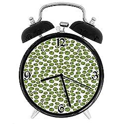 one-six-seven Fresh Healthy Food Theme Graphic Artichoke Pattern Vegetarian Diet Desk Clock Home Unique Decorative Alarm Ring Clock 4in