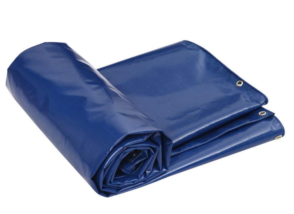 ターポリン、防水頑丈なタフ、アイテムのカバーに適して、庭の装飾、屋外キャンプ、キャンプテント、マルチサイズオプション、ブルー (サイズ さいず : 6 * 5M) 6*5M  B07HM7JRYV