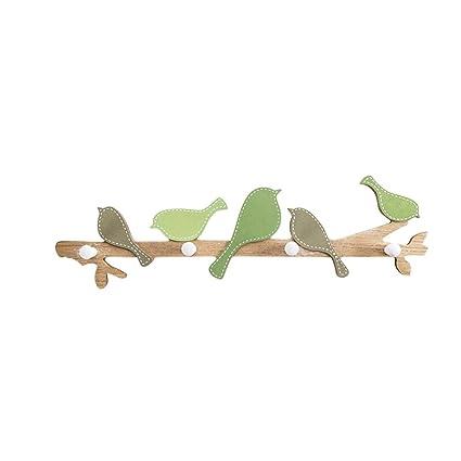 Amazon.com: Pájaro gancho perchero de madera ganchos para ...