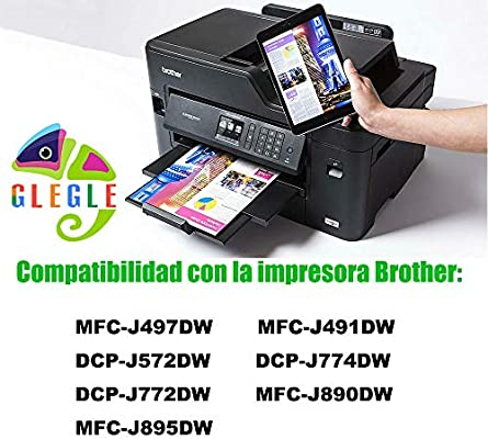 GLEGLE LC3211 LC3213 Cartuchos Tinta Brother 4 Multipack Reemplazo para Brother DCP-J572DW MFC-J491DW MFC-J497DW DCP-J772DW DCP-J774DW, MFC-J890DW ...