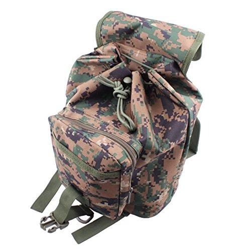 ZX&Q Camuflaje viento portátil pequeño mochila hombres y mujeres universal viaje de ocio al aire libre bandolera,A,20L F