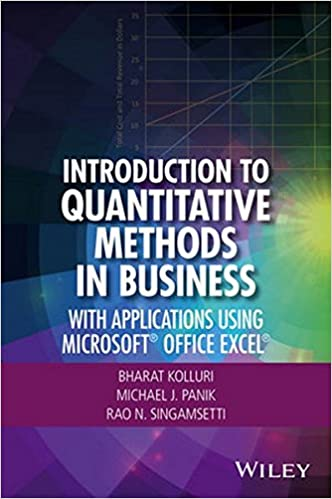Read Introduction to Quantitative Methods in Business: Using Microsoft Office Excel PDF, azw (Kindle), ePub, doc, mobi