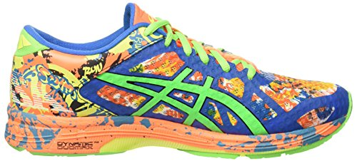 Asics Gel-Noosa Tri 11, Zapatillas de Running para Hombre Multicolor (Hot Orange/Green Gecko/Electric Blue)
