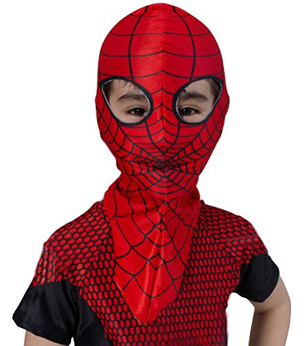 Costume Kid's Amazing Spiderman Costume Hood Overhead Mask Red One Size