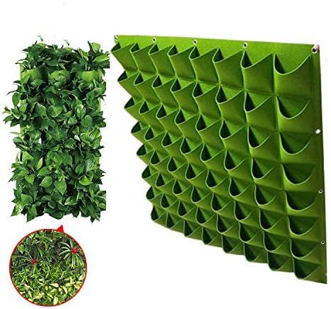 AIMCAE Colgando Bolsa de plantación Vertical 64 Bolsillo jardín Pared Maceta 12x12cm para Home Garden decoración de Pared,Green: Amazon.es: Hogar