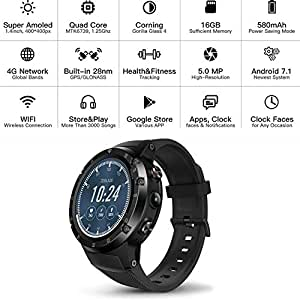 Amazon.com: Zeblaze Super Lightweight Smart THOR 4Plus Watch ...