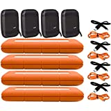 LaCie 4 Pack 5TB Rugged Mini USB 3.0 / USB-C External Hard Drives Compatible with Windows and Mac - Water and Drop Resistance with Compact Pocket Cases